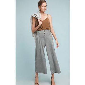 NWT Maeve Anthropologie Houndstooth Wide Leg Pants